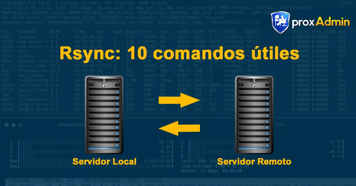 Rsync: 10 ejemplos prácticos de comandos Rsync